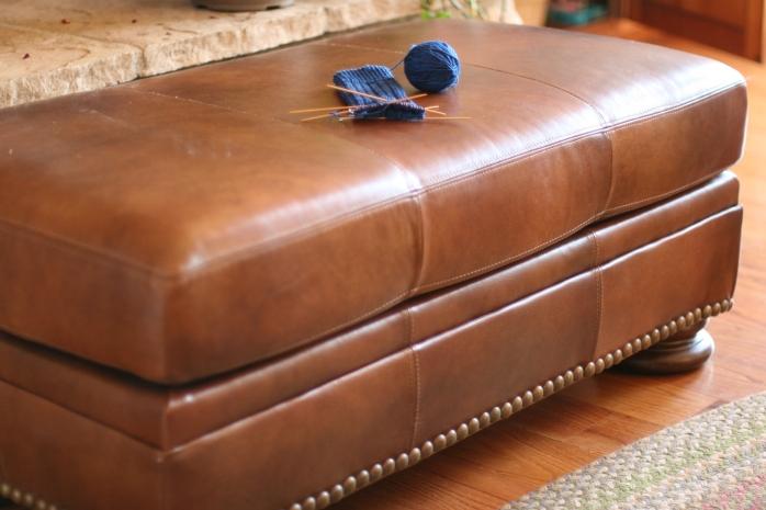 Leather Ottoman
